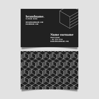 Monochrome visitenkarten