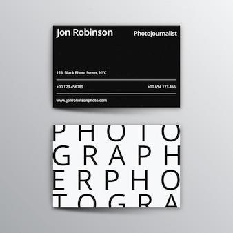 Monochrome visitenkartenvorlage