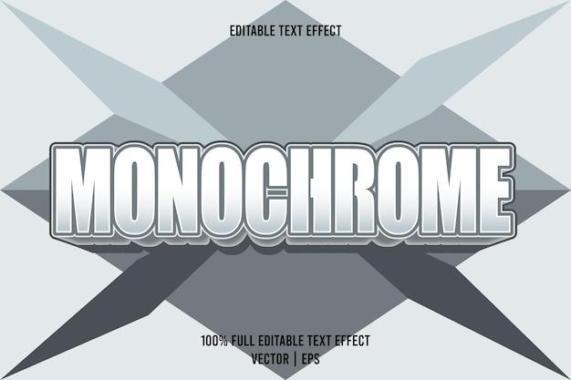 Monochromer bearbeitbarer texteffekt 3-dimensionaler präge-cartoon-stil