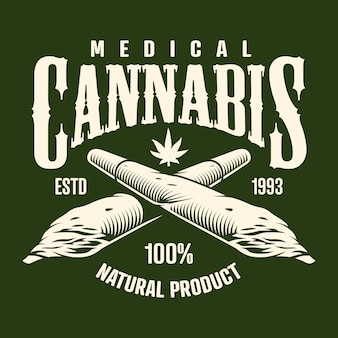 Monochromes cannabis-emblem