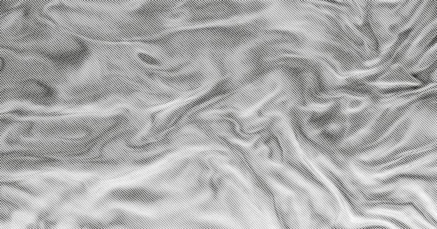 Monochromes halbton-zick-zack-muster des stofftexturhintergrunds