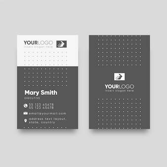 Monochromes visitenkartenkonzept