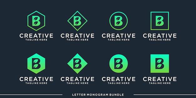 Monogramm abstrakte anfängliche b logo design vorlage