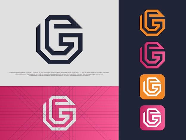 Monogramm buchstabe g logo