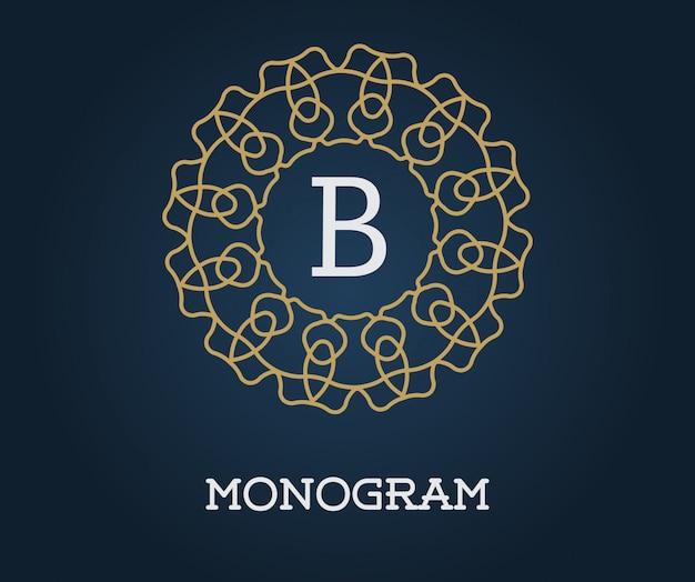 Monogramm-entwurfsvorlage mit buchstabe b.