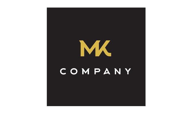 Monogramm / initialen mk logo design inspiration