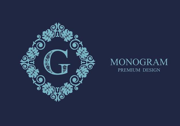 Monogramm kalligraphisches schablonenlogo