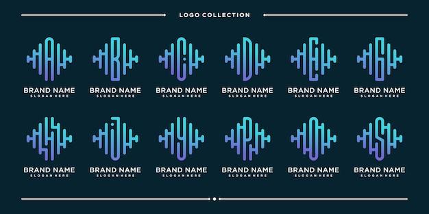 Monogramm kreative briefimpuls logo design-vorlage