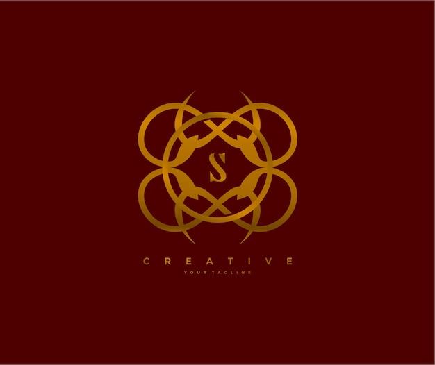 Monogramm logo buchstabe s einzigartiges elegantes symbol