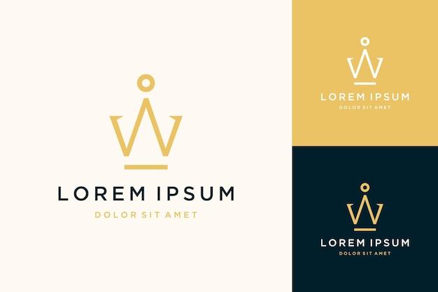 Monogramm-logo-design oder anfangsbuchstabe iw oder krone