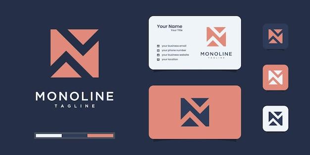 Monogramm-logo mit negativem buchstaben n, glatt, schönheit, initiale, monogramm-logo-design.