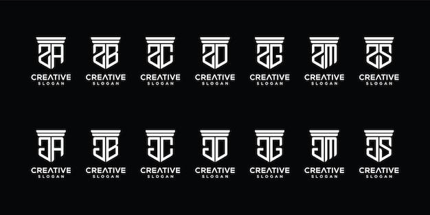 Monogramm-logo-vorlage festlegen
