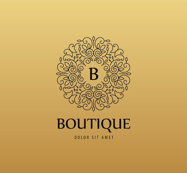 Monogramm luxus lineares logo