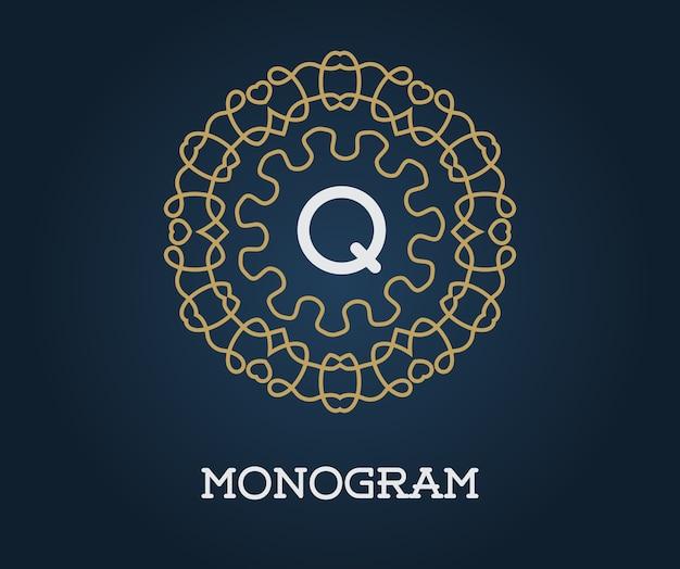 Monogramm mit buchstabe q.