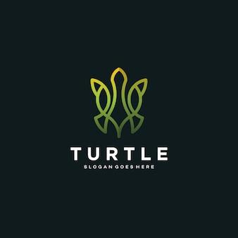 Monogramm-schildkröte-logo