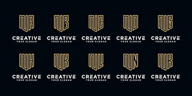 Monogramm set logo n und etc.