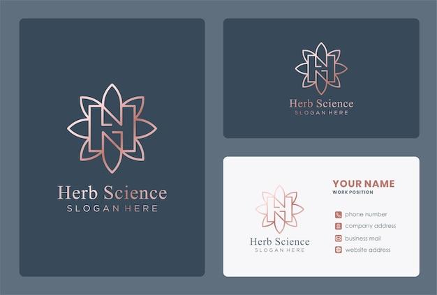 Monogramm-wissenschaftslogo-design mit buchstabe h.