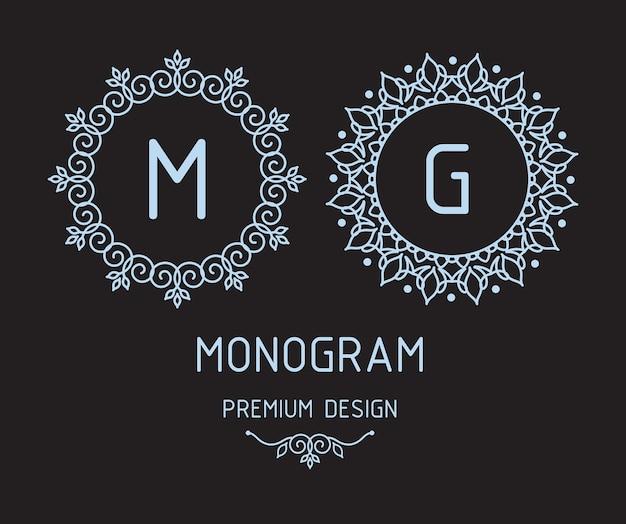 Monogrammentwurfsvorlagen