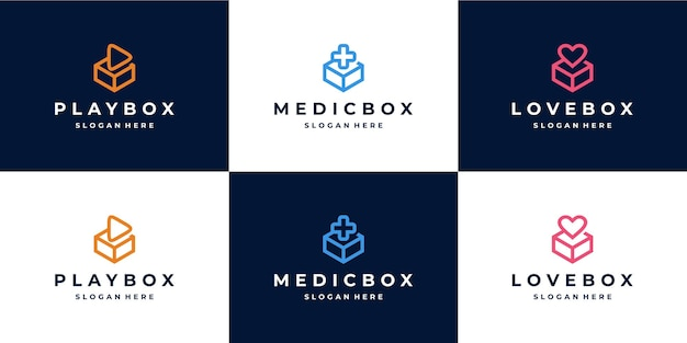 Monoline box logo kombination