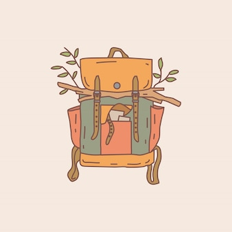 Monoline wildsack illustration