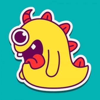 Monster cartoon charakter gekritzel design