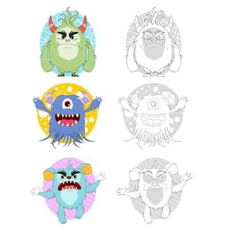 Monster cartoon färbung