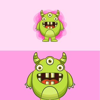 Monster cartoon illustration