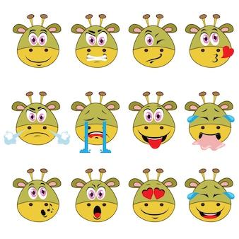 Monster emojis set auf weißen hintergrund