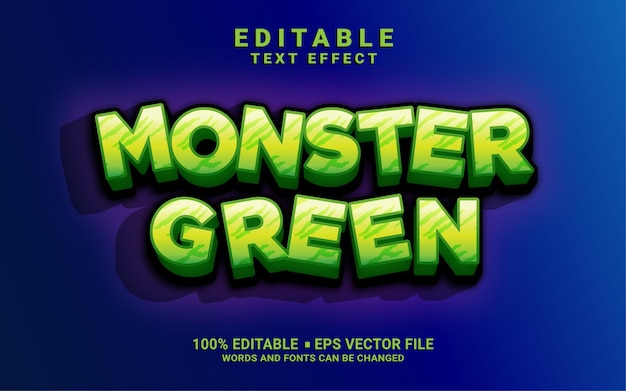 Monster grüner textstileffekt
