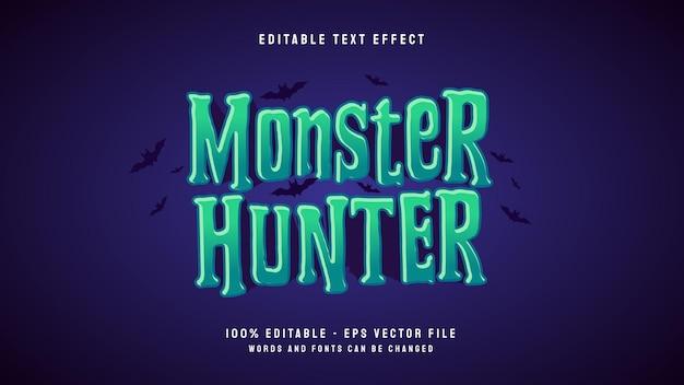Monster hunter 3d-cartoon-spiel bearbeitbare texteffektvorlage