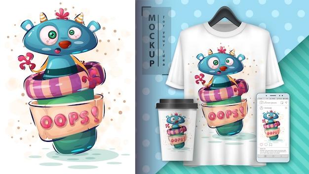 Monster kaffee poster und merchandising