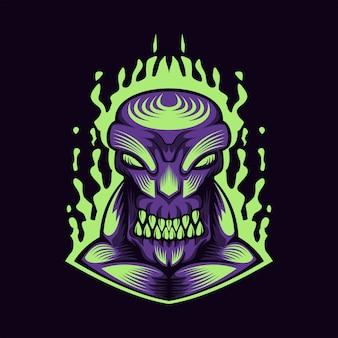 Monster lila feuer