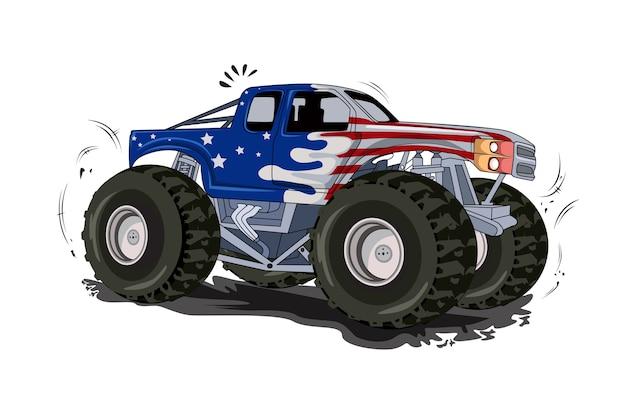 Monster-lkw-offroad-fahrzeugvektor