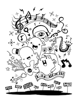 Monster-musik-band spielt musik