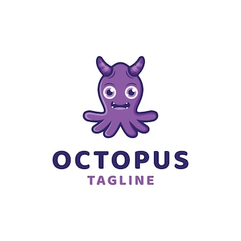 Monster octopus logo vorlage