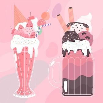 Monster shake für warme sommertage