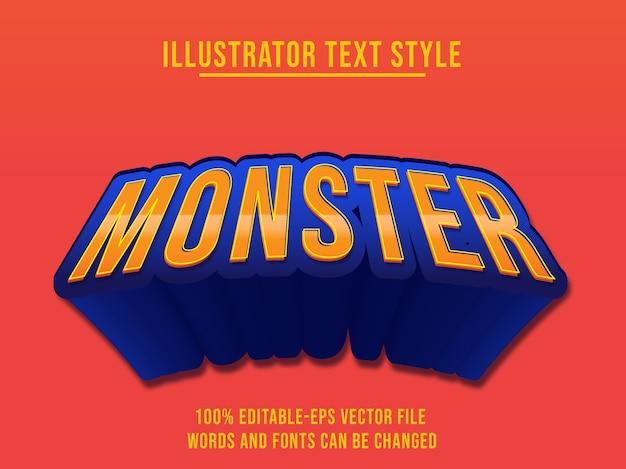 Monster-texteffekt
