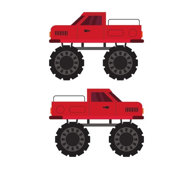Monster truck auf weiß