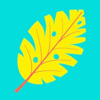Monstera blatt, tolles design. monstera-blatt. palm monstera