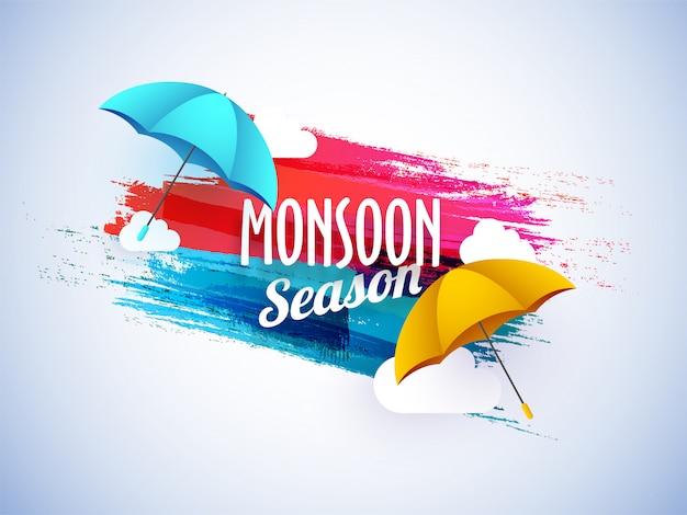 Monsun saison konzept
