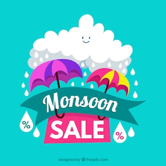 Monsun saison verkauf hintergrund