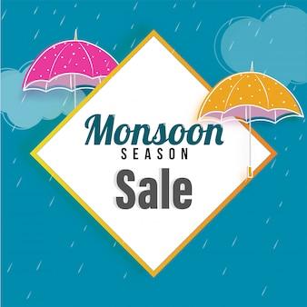 Monsun-verkauf-konzept