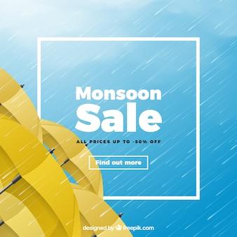 Monsunverkaufszusammensetzung mit realistischem design