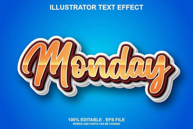 Montag texteffekt editierbar