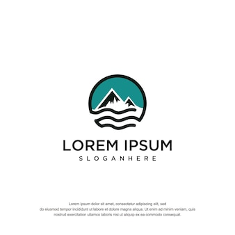 Montain oil logo design vektor vorlage