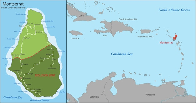 Montserrat karte