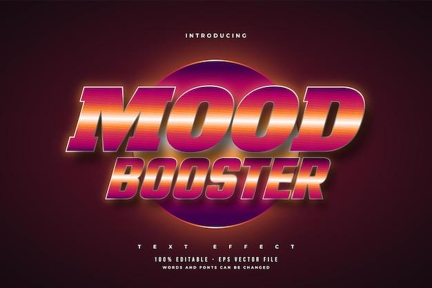 Mood booster-texteffekt im farbenfrohen retro-stil