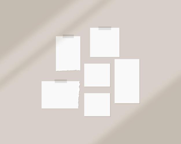 Moodboard-mockup-vorlage mit schattenüberlagerung