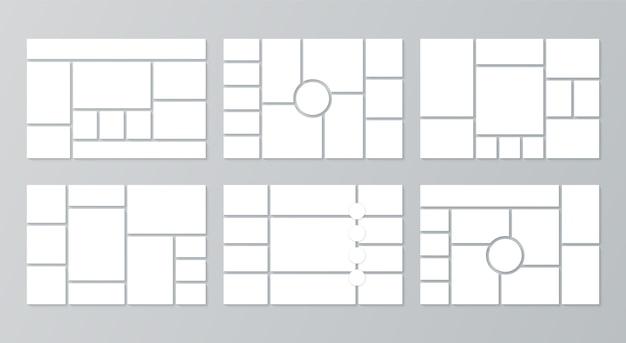 Moodboard-raster. collage-vorlagen. moodboard-hintergrund. fotomontage bilder layout.