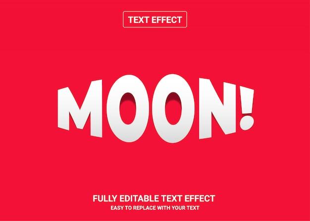 Moon bearbeitbarer textstileffekt